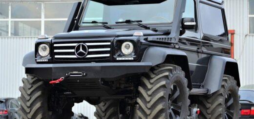 Mercedes G 500 коротыш установить портальные мосты,расширители арок Гелендваген 4х4,козырек на лобовое стекло,колеса от трактора,шноркели Брабус.